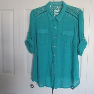 Dressbarn crocheted blouse